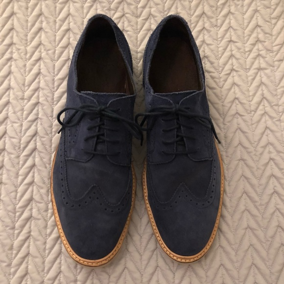 Navy Cole Haan Suede Shoes Mens 1m